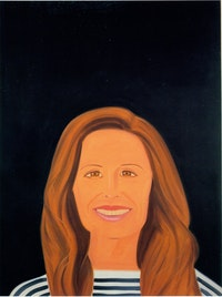 "Alex Katz, ""Alba Smiles"" (1994). Oil on linen. 96"" x 62"". Courtesy Peter Blum Chelsea."