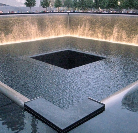 Reflecting Pool, 9/11 Memorial, New York. Photo credit: Colin Selleck.