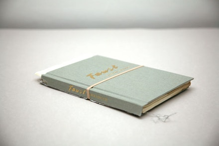 """Faust, A Tragedy Abridged,"" 2012. Torn hardcover book. Courtesy Jill Magid and Galerie Yvon Lambert, Pari"
