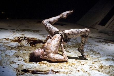 Edward Watson as Gregor Samsa in <i>The Metamorphosis</i>. Photo: Tristam Kenton.