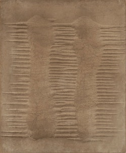 Marcos Grigorian, Untitled. Sand and enamel on canvas 30 x W. 25