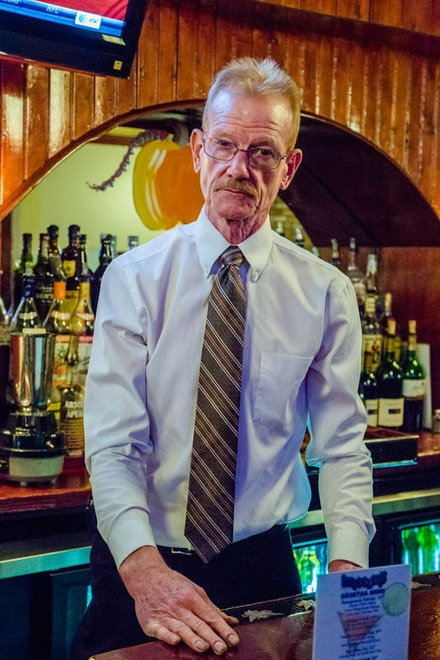 "Jim has been serving drinks at Wheeler's ""for too long,"" but he's now teaching his son Connor the ropes."
