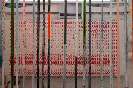 """Franklin Evans, """"timecompressionmachine"""" (2010). Mixed media installation 500 sq. ft. MoMA PS1, Greater New York. Photo: Stuart Stelzer."""