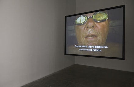 "Chris Burden. ""The Rant,"" 2006. Video, color, 2:10 min. Courtesy New Museum, New York. Photo: Benoit Pailley."