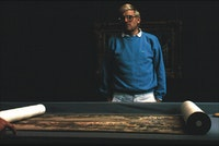 David Hockney in <em>A Day on the Grand Canal With the Emperor of China or Surface Is Illusion but so Is Depth</em>. Courtesy of Milestone Film and Philip Haas.