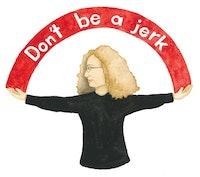 Barbara Kruger. Illustration by Megan Piontkowski.