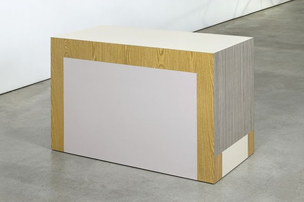 "Richard Artschwager, ""Table (Drop Leaf),"" 2008. Formica on wood, 30 × 22 × 44 ̋."