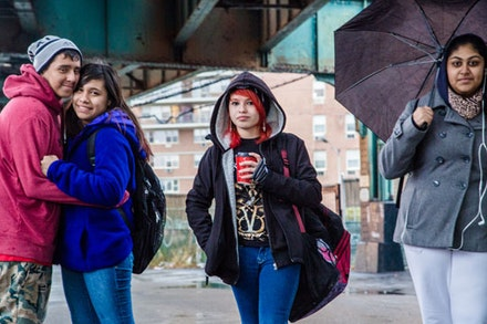 The commute of these students was the catalyst for their friendship, as they make their way back to Church Avenue from Lincoln High School in Coney Island.