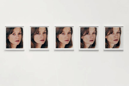 """Portrait of an Image (with Isabelle Huppert)"" (detail), 2005. One hundred c-prints. 121/2×15 ̋ each. Courtesy the artist and Hauser & Wirth Gallery."