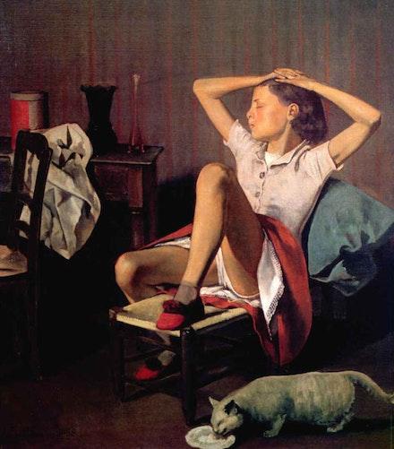 "Balthus, ""Thérèse Dreaming""."