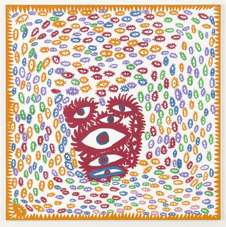 "Yayoi Kusama, ""My Heart,"" 2013. Acrylic on canvas, 76 3/8 x 76 3/8"". Courtesy David Zwirner and Yayoi Kusama Studio Inc."