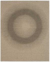 "Helmut Federle ""Ferner J (Der Knochen),"" 2013. Vegetable oil on canvas, 19 5/8 x 15 3/4"". Courtesy of the artist and Peter Blum Gallery."