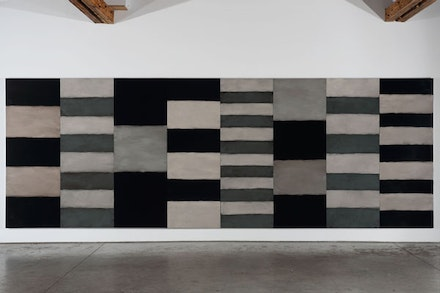 "Sean Scully, ""Night and Day,"" 2012. Oil on aluminum, 110 x 320"". ©SeanScully. Courtesy Cheim & Read, New York."