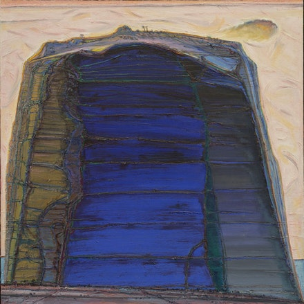 "Wayne Thiebaud, ""Big Rock Mountain,"" 2004–2012. Oil on canvas, 54 x 54"". Image: Ira Schrank, Sixth Street Studio, San Francisco."