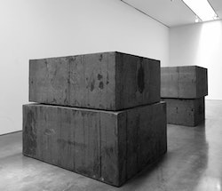 """Intervals,"" 2013 and Grief and Reason (for Walter), 2013. © Richard Serra. Courtesy Gagosian Gallery. Photograph by Robert McKeever."