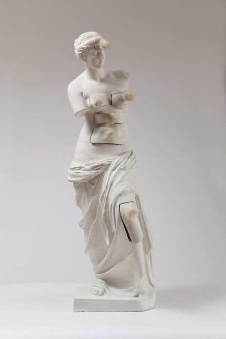 "Salvador Dalí, ""Vénus de Milo aux Tiroirs (Venus de Milo with Drawers),"" 1936/1964. Painted bronze and mink pompoms, height: 97.5 cm, Private Collection, © Salvador Dalí, Fundació Gala-Salvador Dalí, Artists Rights Society (ARS), New York 2013."