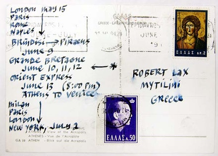 Robert Lax Papers, Rare Book & Manuscript Library, Columbia University.