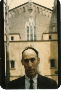 Robert Lax. Photo by Ad Reinhardt, 1958. Courtesy the Ad Reinhardt Foundation.