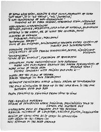 <br /> Ad Reinhardt's Reading Notes. C. 1966. Courtesy the Ad Reinhardt Foundation.