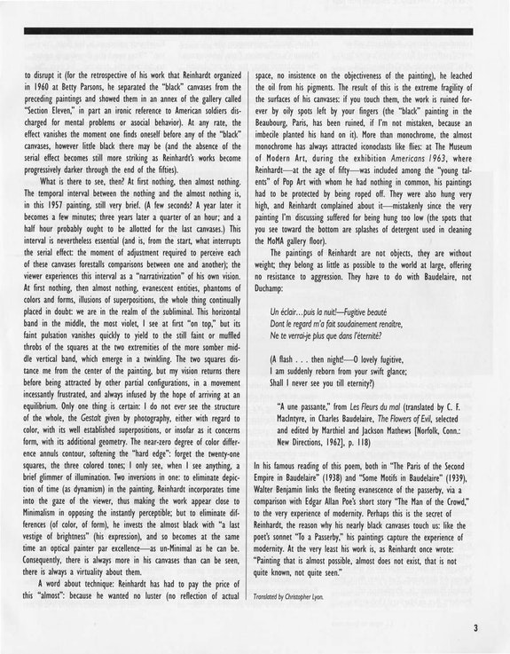 <br /> From MoMA Members Quarterly (Summer 1991).