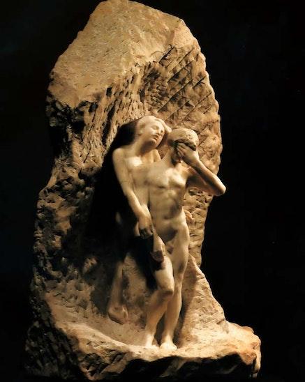 August Rodin, <em>Orpheus and Eurydice</em>, 1893, marble, 127 cm. New York: Metropolitan Museum of Art. Image (c) The Metropolitan Museum of Art.
