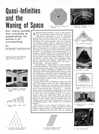 "<br /> Robert Smithson, ""Quasi-Infinities and the Waning of Space,"" <em>Arts Magazine Vol. II</em>, November 1966."