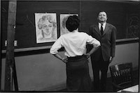 Ad Reinhardt at Brooklyn College. Courtesy the Ad Reinhardt Foundation.