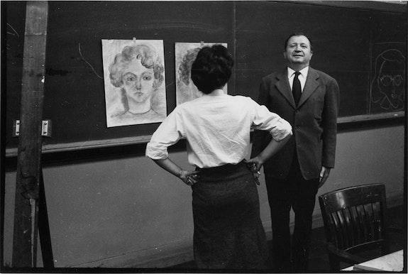 Ad Reinhardt at Brooklyn College. Courtesy the Ad Reinhardt Foundation.