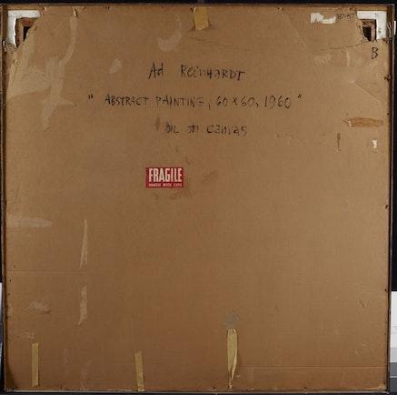 Back of Reinhardt painting. Courtesy Princeton University Art Museum.