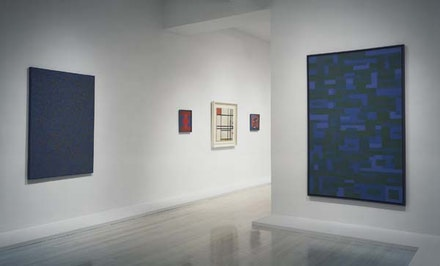 Installation view,<em> Mondrian/Reinhardt: Influence and Affinity</em>, The Pace Gallery, 57th Street, October 24–December 13, 1997. Photograph courtesy Pace Gallery.