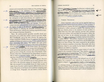 Ad Reinhardt's annotated copy of George Kubler's <em>The Shape of Time</em>.