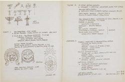 Ad Reinhardt, 1952 travel journal. Courtesy the Ad Reinhardt Foundation.