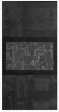 Green-Violet Center, 1943, oil on canvas, 39.5 × 20