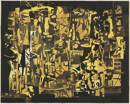 Ad Reinhardt, Newsprint Collage, 1940. In the collection of MoMA. Estate of Ad Reinhardt, ARS.