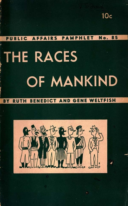 figure 1. Ad Reinhardt, cover, Ruth Benedict and Gene Weltfish, The Races of Mankind (New York: Public Affairs Committee, 1943). Courtesy Ad Reinhardt Foundation.