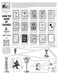 "<br /> Ad Reinhardt, ""How to Look at Things Through a Wine Glass,"" 1946. Courtesy the Ad Reinhardt Foundation."