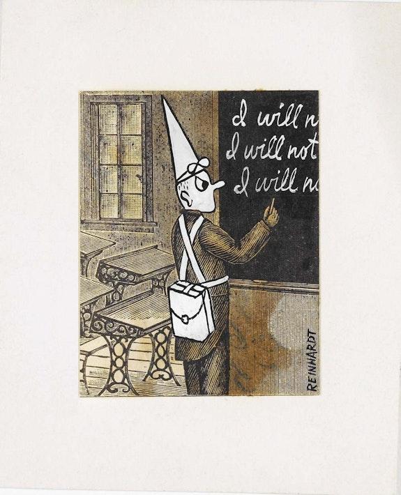 Ad Reinhardt, illustration for <em>PM</em>, September 1943.