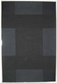 "Ad Reinhardt, ""Untitled,"" 1966. Gouache on photographic paper. Estate of Ad Reinhardt, ARS."