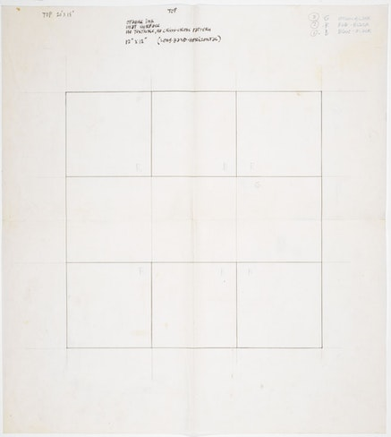 Instructions for Reinhardt&#146;s silkscreen included in <em>Ten Works by Ten Painters</em> (1964).