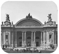 Paris Exposition-Grand Art Palace, Entrance. Paris, France, 1900.