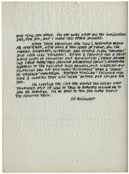 Ad Reinhardt to Alfred H. Barr Jr. December 13, 1962. Museum Collection Files, Department of Painting and Sculpture, Reinhardt Correspondence File, The Museum of Modern Art, New York.