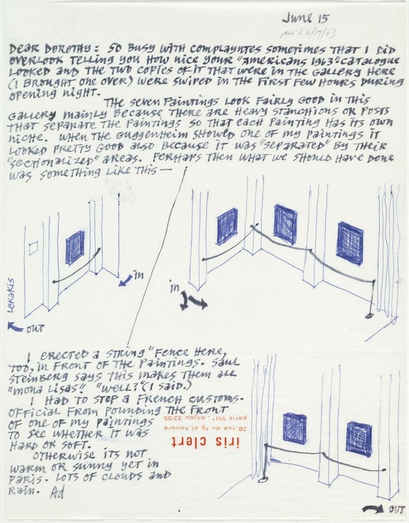 <br> Ad Reinhardt to Dorothy Miller, June 15, 1963. Museum Archives, the Museum of Modern Art, New York.