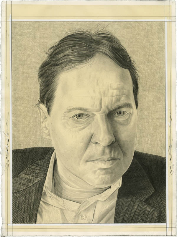 Portrait of Joachim Pissarro. Pencil on paper by Phong Bui.