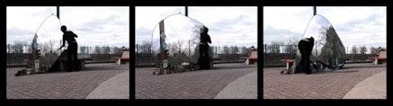 Daniela Kostova, <em>Fixing Reality</em>, 2004 (video stills). Single-channel video, Edition of 3 + 2 AP. Courtesy Garis & Hahn.