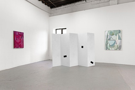 Installation shot, <em>UNIQUE NEWARK</em>, C-L-E-A-R-I-N-G, 2013. From left to right,
