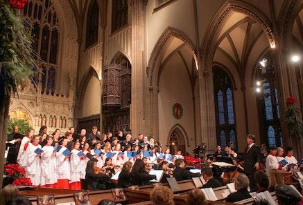 The Choir of Trinity Wall Street directed by Julian Wacher. Photo by Pete Matthews.