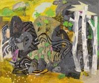 "Alfredo Gisholt, ""America Insurrecta,"" 2013. Oil on canvas, 72 × 84˝. Courtesy CUE Foundation."
