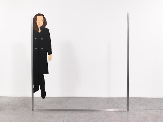 "Alex Katz, ""Vivien,"" 2013. Oil on aluminum, 84 × 84 ̋. Courtesy of Gavin Brown's Enterprise."