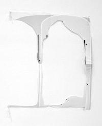 """Austin Thomas, """"Data Removal,"""" 2014. Cut paper, 19 × 17 ̋."""