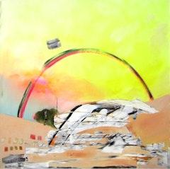 "Annie Ewaskio, ""Totem,"" Oil and acrylic on canvas, 36"" x 36"", 2011."